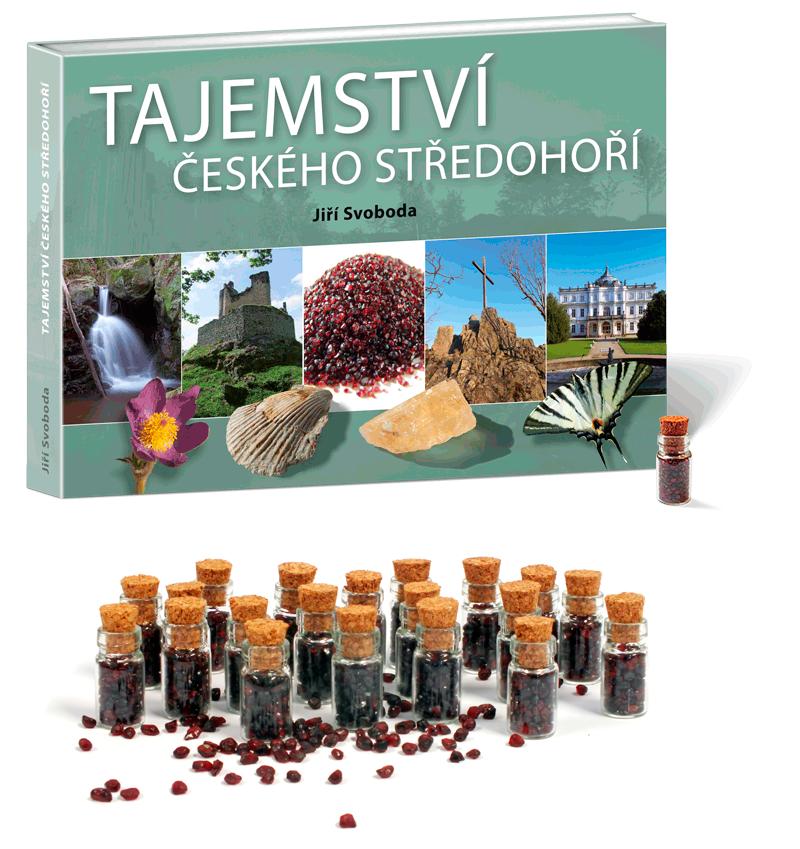 Kniha Tajemství Českého středohoří, lahvička s granáty