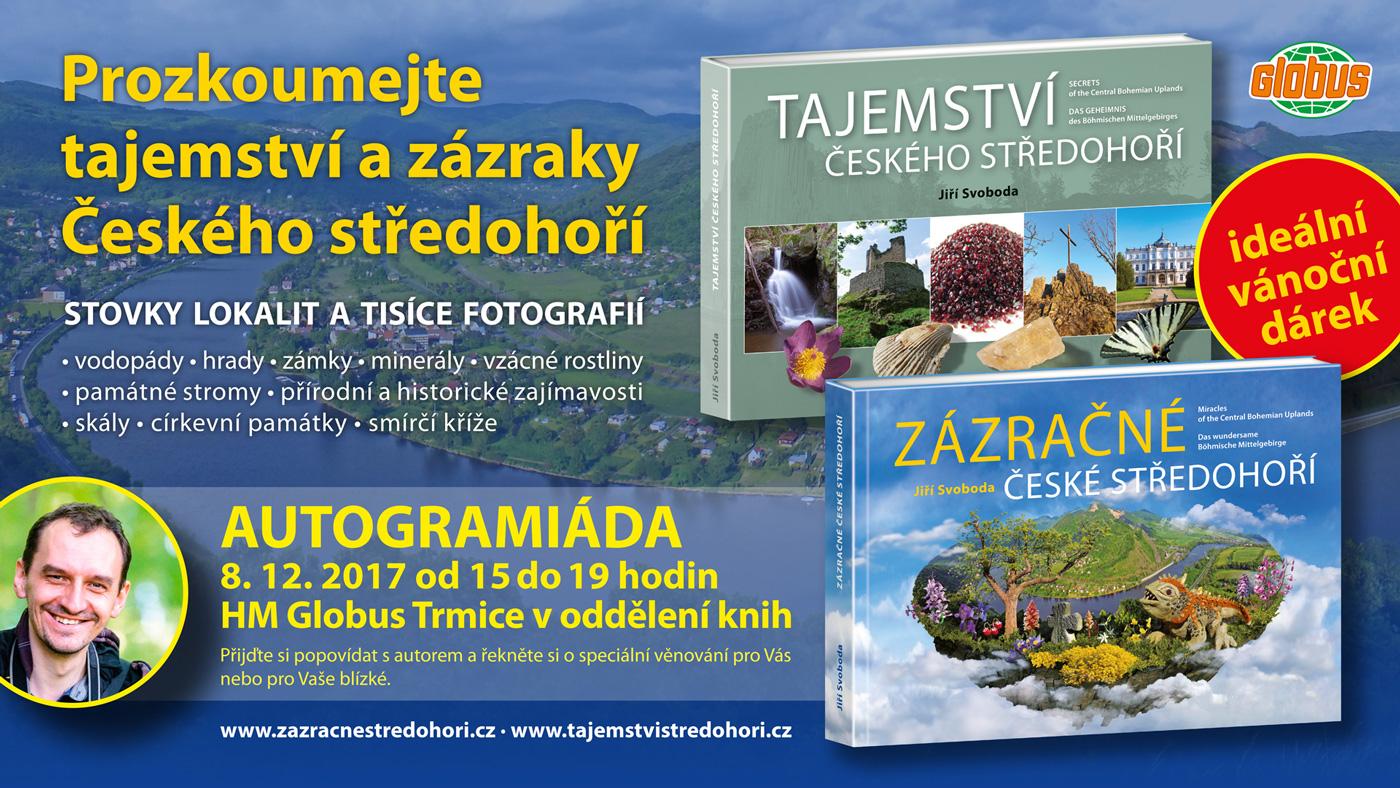 Autogramiáda a prodej knih v Hypermarketu Globus Trmice